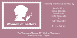 Women Of Letters, July 30 Edition.