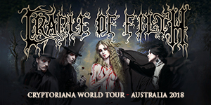 Cradle Of Filth - Cryptoriana Australian Tour