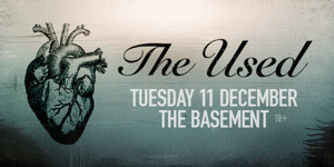 The Used Australian Tour 2018