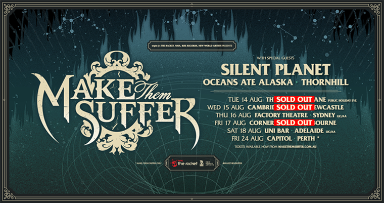 make them suffer ticket sales powered by oztix